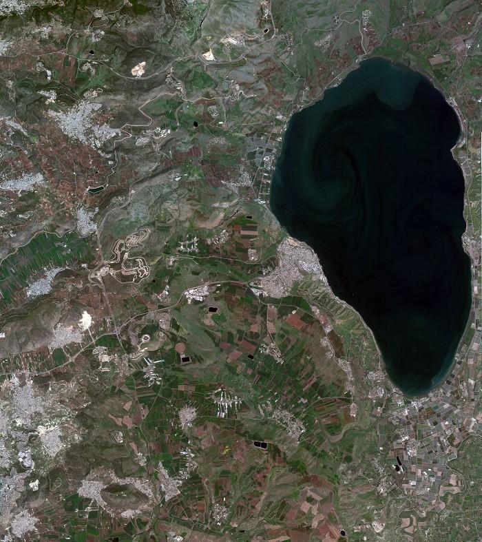 שדות בעמק יזרעאל כפי שצולמו עי הלוויין הישראלי ונוס
