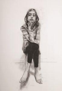 דני רוזנברג רישום בפחם על נייר צילום אוסקר אבוש