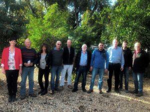 ירון בלחסן ומועצת ארגון מגדלי הפירות
