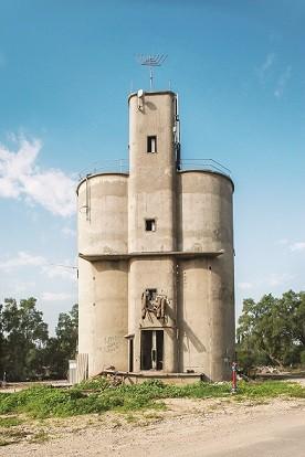 קיבוץ מפלסים.מגדל תבואה.נבנה בשנות ה 50