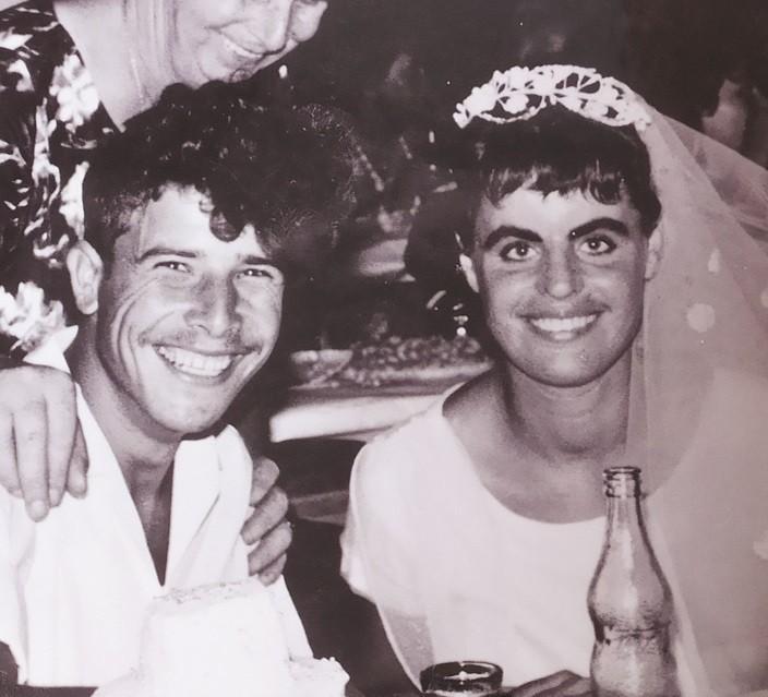 אלישבע ומייקל כהן ביום חתונתם