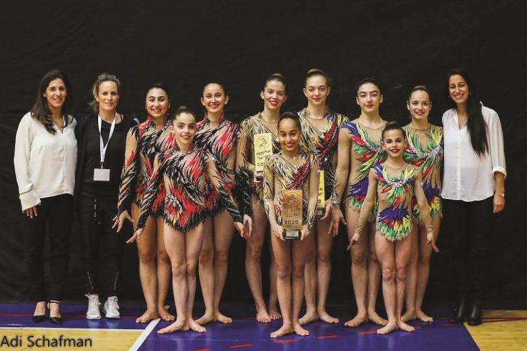 הזוכות באליפות ישראל באקרובטיקה