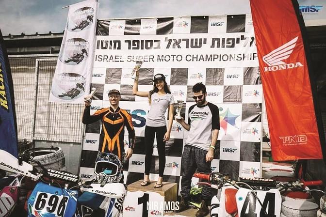 רן יוחאי הרוכבת זוכה באליפות ישראל בסופרמוטו 2019