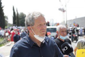 אבשלום וילן בהפגנה
