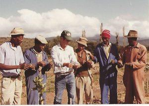 סיסקאי שמאי ביום הדגמה לחקלאים אפריקאיים.