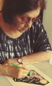 סבינה סעד מבטאה בציוריה את זמן הקורונה