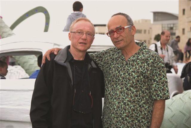 אפרים עם סופר דוד גרוסמן