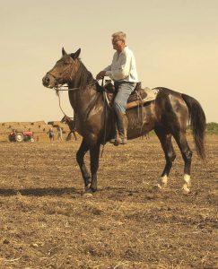 רן בן ברק במושב רוכב על סוס
