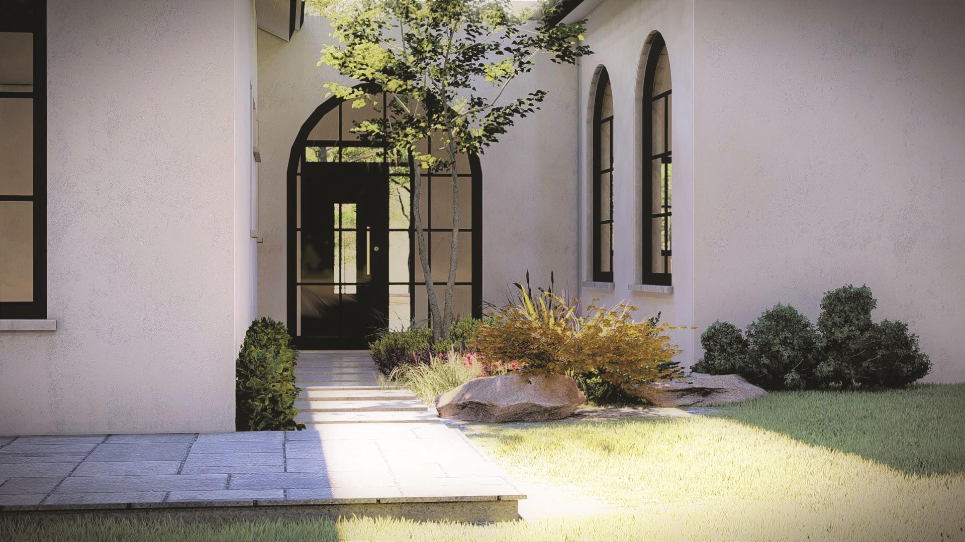 כניסה לבית בכפר עיצוב קרן וענבר