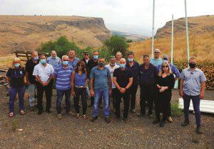 סיור משותף למועצה אזורית הגליל התחתון וארגון מגדלי הפירות
