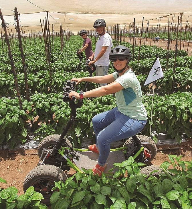 סיור עם איזי ריידר במסלול החקלאי