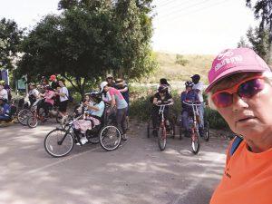 דורית אור בפעילות אופניים בשטח