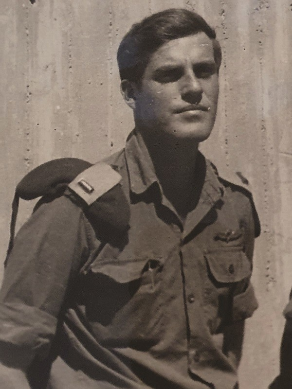 איתי מיכאלי בסיום קורס קצינים אוקטובר 1970