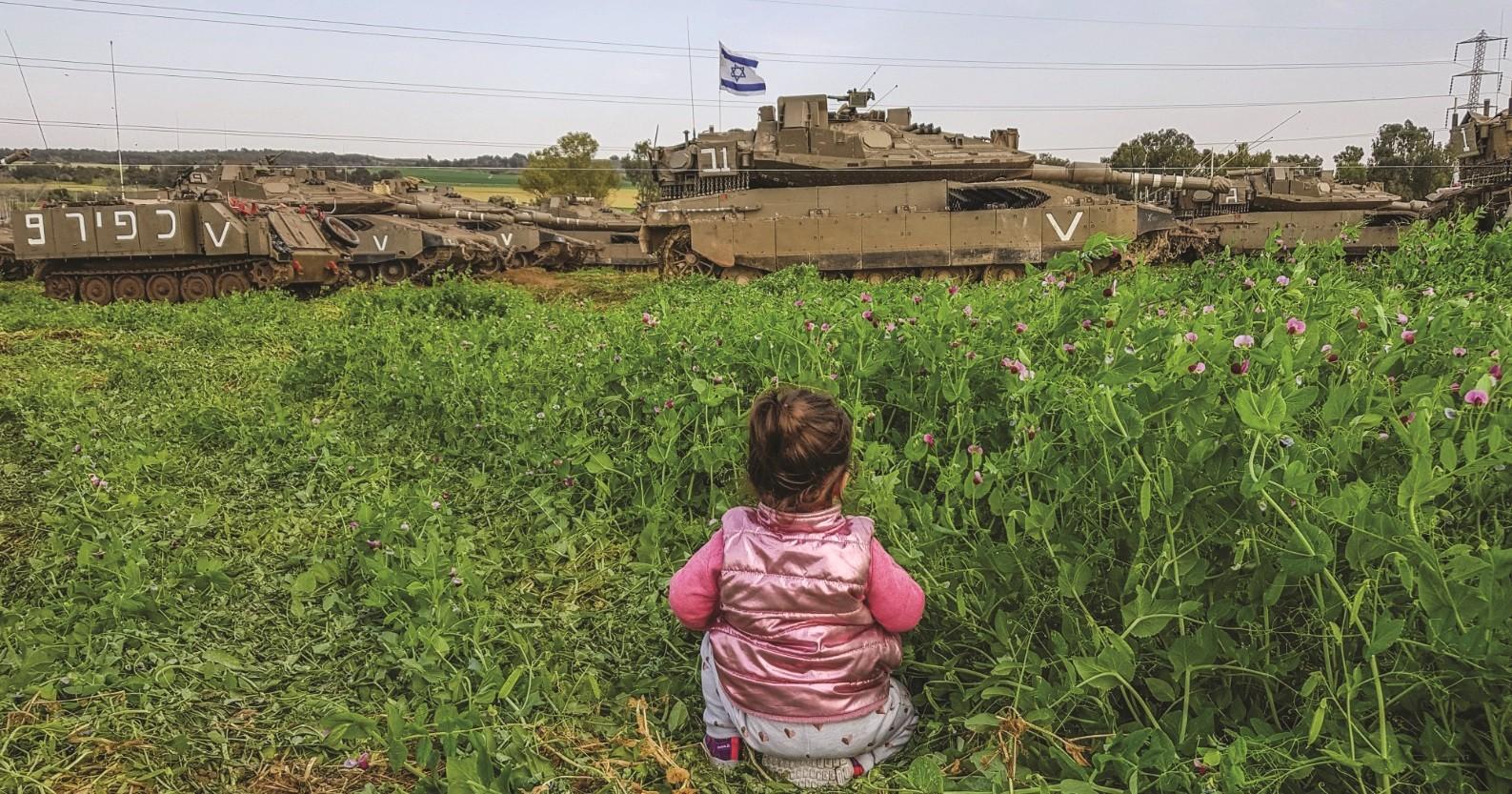 המציאות הבלתי נתפשת בעוטף עזה פעוטה מול טנקי מרכבה