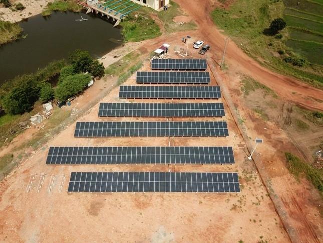 פרויקט סולארי קרקעי של סמארטסולאר בדאווניה גאנה 2018