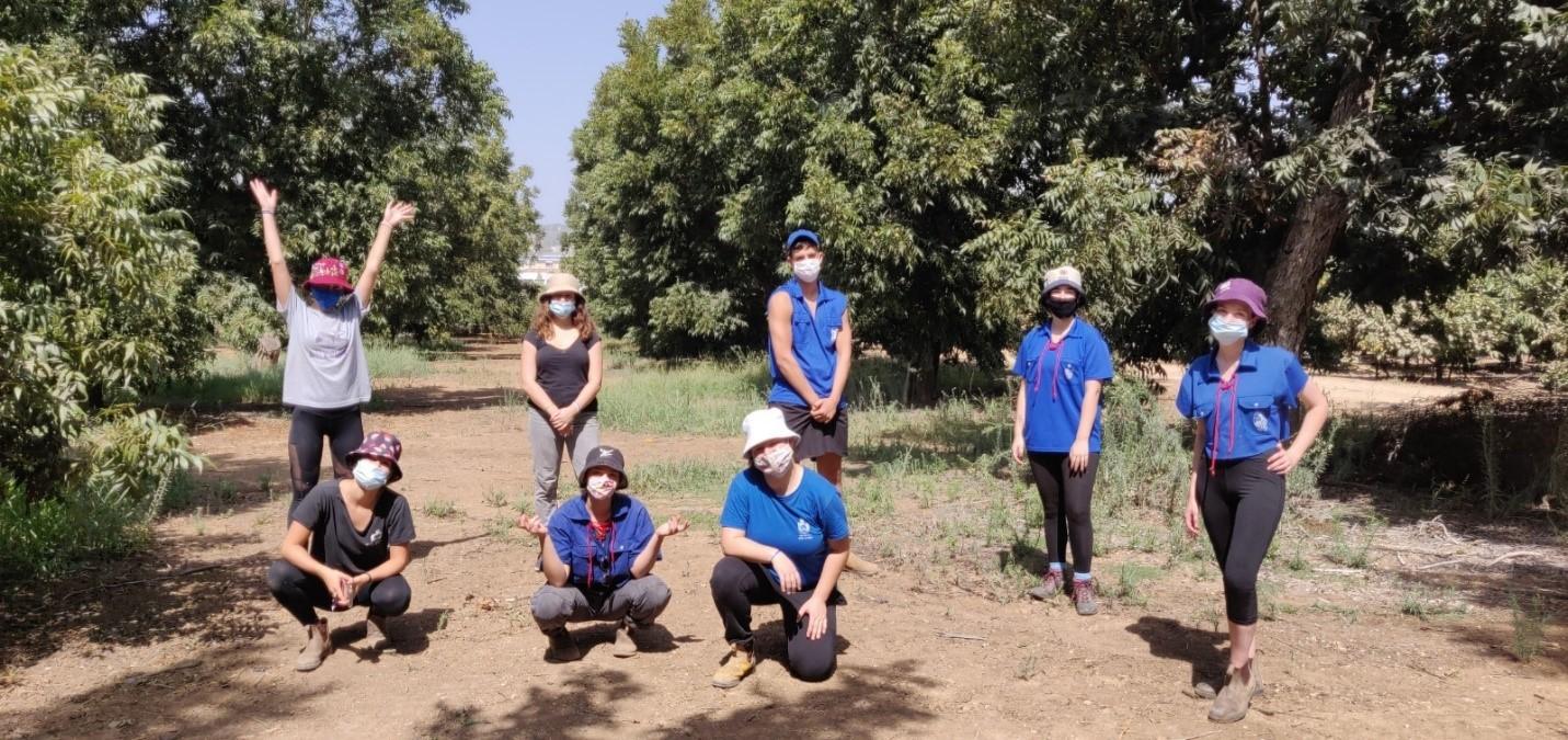 חניכי הנוער העובד והלומד מקיבוץ כפר גלעדי