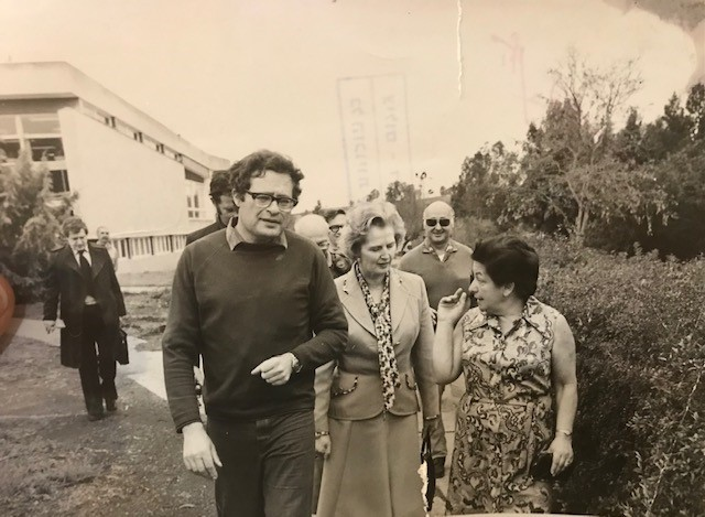 ביקור של מרגרט טאצר בכפר הנשיא