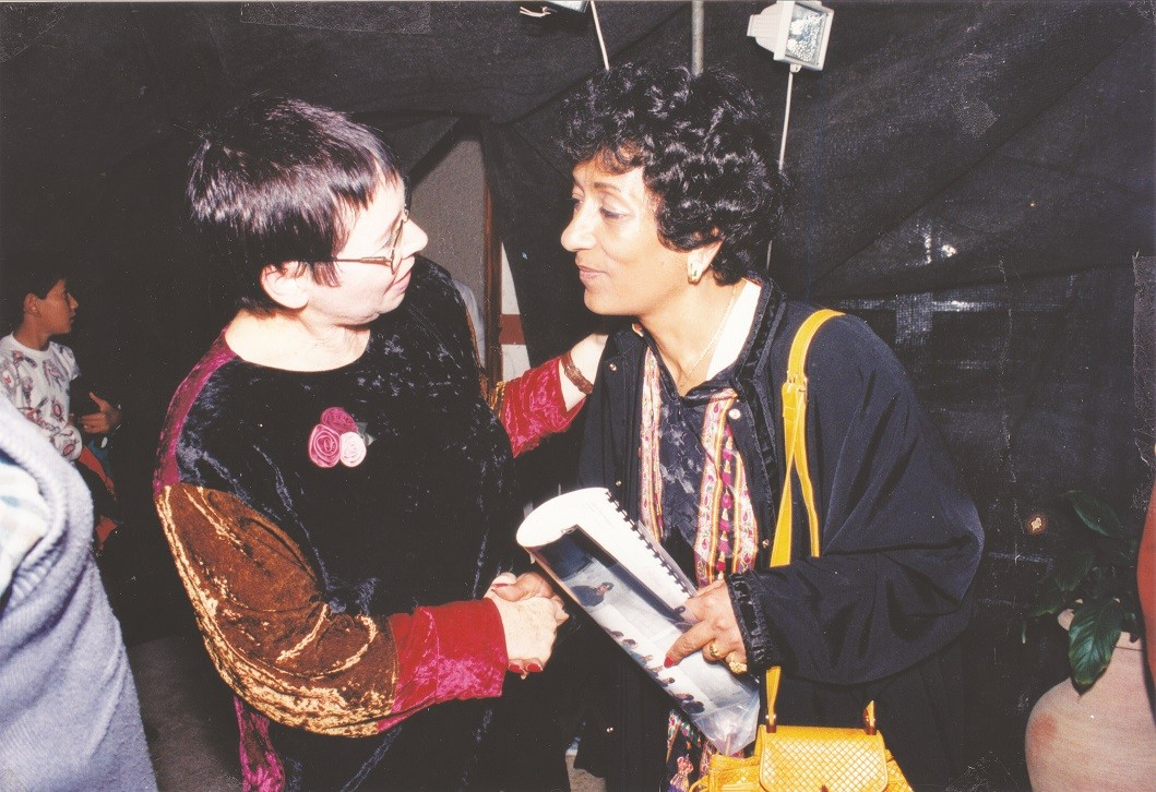 רינה ברקת עם קמיליה סאדאת 1994