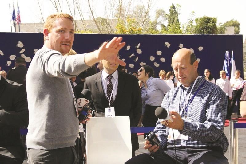 בועז פרמדר בהפקת משדר ביקור הנשיא אובמה בישראל