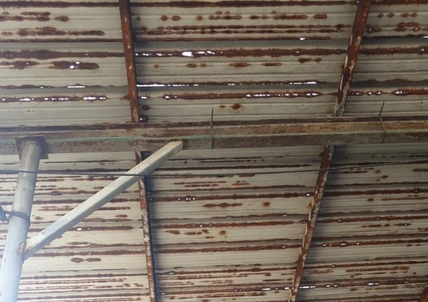 גג רפת איסכורית לפני ההחלפה