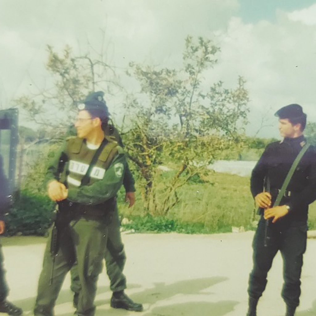 גיא שריג בסיור המשותף עם המשטרה הפלסטינית 1996