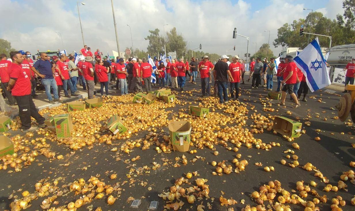 הפגנת חקלאים בכל הארץ