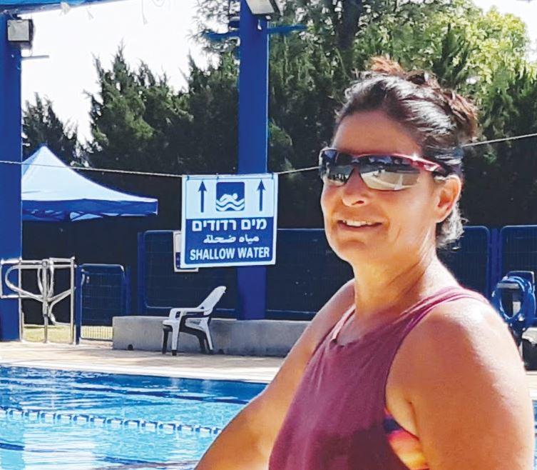 רותי גולן מנהלת בריכת קיבוץ מצר