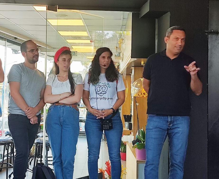 אלון דוידי ראש העיר בסיור קולינרי בשדרות