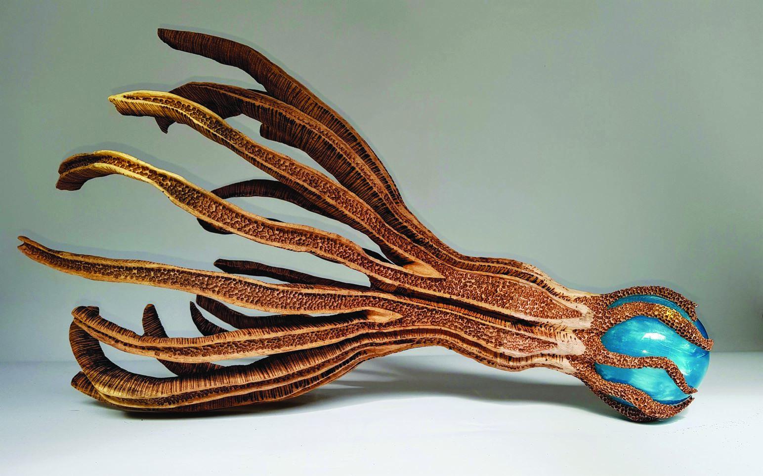 יצירתו של אלישע רובינף בהשראת עולם המים