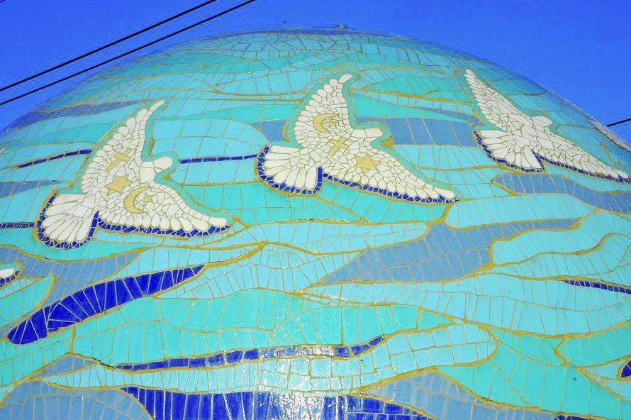 כיכר השלום בטורעאן עבודת פסיפס של דליה גרוסמן