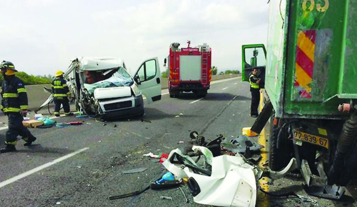 תאונה קטלנית על כביש 65 צילום כבאות צפון